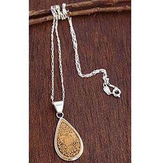 Novica Owl Enigma Mate Gourd Necklace