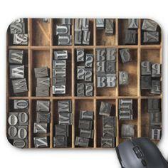 letterpress metal type mousepad #typographymousepads, #letterpressmousepads, #letterpressmetaltype, #fontlove, #letterpresslove, #typecase