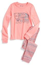Tucker + Tate Two-Piece Fitted Pajamas (Toddler Girls, Little Girls & Big Girls) Little Girl Fashion, Toddler Fashion, Toddler Outfits, Kids Outfits, Kids Fashion, Fashion Outfits, Toddler Girls, Children's Outfits, Toddler Hair