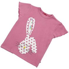 Pink Bunny Applique Girls T Shirt - view all easter