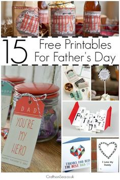 The perfect free Fathers Day printables - gorgeous ideas that are great for kids and adults with cards, coupons, trat labels and gift tags.