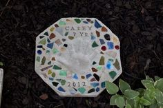 Cute Cement Stepping Stone1 Wonderful DIY Cute Handprint Cement Stepping Stone