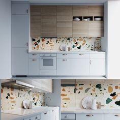 Ikea Interior, Kitchen Interior, Kitchen Decor, Interior Design, Voxtorp Ikea, Ikea Metod Kitchen, Kitchen Utensils Store, Kitchen Modular, 3d Models