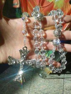terço para noivas em pedras cristais swaroviski maravilhoso