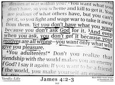 James 4: 2-3