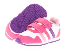 adidas Kids Snice 2 CF (Toddler) Running White/Ray Pink/Ray Purple - 6pm.com