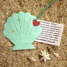 150 Plantable Wedding Favor Starfish and Shell Seaside Favors