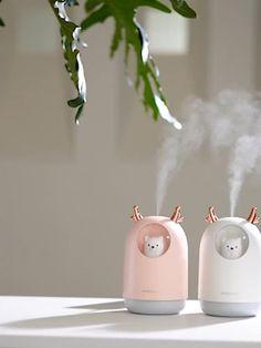 Portable Cute Pet Mini Air Diffuser Humidifier - My Website 2020 Home Room Design, Home Interior Design, Cool Mist Humidifier, Air Humidifier, Air Diffusers, Aroma Essential Oil, Kawaii Room, Video Pink, Cute Room Decor