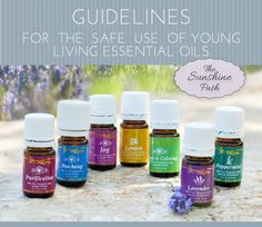 Guidelines for the safe use of Young Living Essential Oils | The Sunshine Path #TheSunshinePath