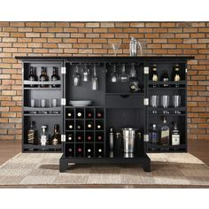 Newport Expandable Bar Cabinet
