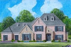 50x75Traditional Style House Plan - 5 Beds 4 Baths 3671 Sq/Ft Plan #424-82 Exterior - Front Elevation - Houseplans.com