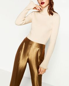 SHINY TROUSERS from Zara