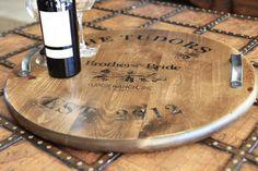 DIY Home Decor: How to make an antique distressed Wine Barrel Tray via lilblueboo.com