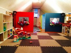 #LOVE what our Roosevelt Branch Director, Kelsey did for her new playroom... She created her own dramatic play village for her playroom. Kids AND parents just #cantgetenough of her program and #awesomeness! Her program is ALWAYS full and a family even drives 45 minutes ONE WAY to be in her program! #homedaycare #homechildcare #ilovemyjob #workfromhome #workfromhomemom #playroomideas #classroomideas #dramaticroleplay #diner #postoffice #grocery www.bungalowbranch.com