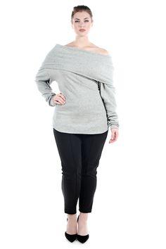 JIBRI Oversized Off Shoulder Knit Sweater — JIBRI