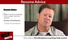 Resume Advice