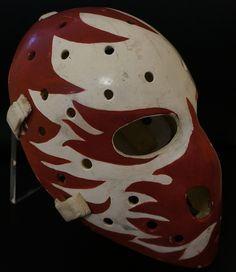 Dan Bouchard Game Used Mask - Atlanta Flames Goalie Mask, Nhl, Hockey, Atlanta, Masks, Skull, Game, Sports, Hs Sports
