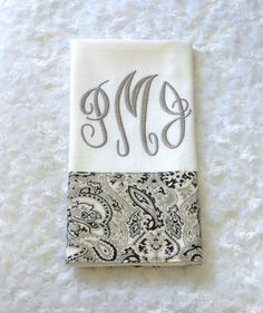 Monogrammed Embroidered Kitchen+Towel+by+BUniqueDeZigns+on+Etsy,+$12.50