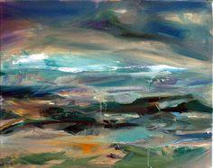 Maine ocean, oil on canvas, 2008