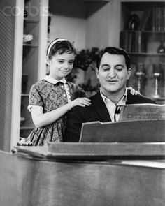 """Angela Cartwright and Danny Thomas on The Danny Thomas Show circa. 1950. I remember it was sponsored by Maxwell House coffee. """"Good to the last drop"""""""