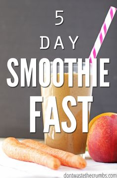 Smoothie fasts are a great way to take in extra nutrition and give your digestive system a break from heavier foods. Read this persons experience with her 5 day smoothie fast :: Dontwastethecrumbs.com