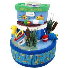 gone fishing diaper cake