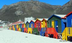 """""""Changing"""" rooms at Muizenberg Beach  http://www.hapidayz.com/a-z-south-africa/m-is-for-muizenberg-beach-cape-town/"""