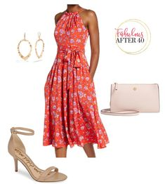 Baby Shower Outfits For Women Over 40 - Red Floral Midi Dress Shower Outfits, Baby Shower Dresses, Pretty Dresses, Beautiful Dresses, Jd Fashion, Baby Shower Outfit For Guest, Beautiful Baby Shower, Feminine Dress, Look Chic