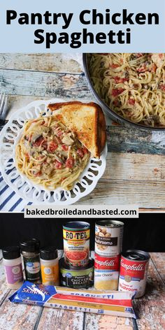 This is quick and easy main meal that can be whipped up with ingredients directly from the pantry. This chicken spaghetti is creamy and has a little bit of a kick. So easy and So good! Leftover Chicken Recipes, Healthy Chicken Recipes, Meat Recipes, Dinner Recipes, Dinner Ideas, Captain America Birthday Cake, America Cake, Chicken Spaghetti, Dinner Is Served