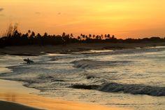 Final de tarde na praia de Tourinhos (foto: Eduardo Vessoni)