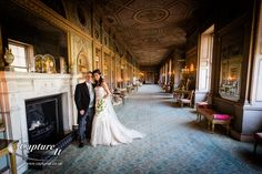 Bride and Groom in the stunning Long Gallery at Syon Park.