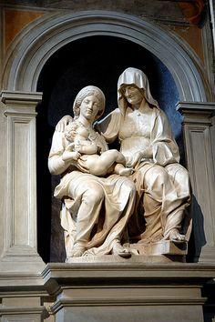 La Vergine e San'Anna - Sansovino - in S.Agostino Roma  #TuscanyAgriturismoGiratola
