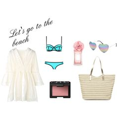 Let's go to the beach by stina-johansson on Polyvore featuring Milly, Monsoon, Full Tilt, NARS Cosmetics and Tommy Hilfiger