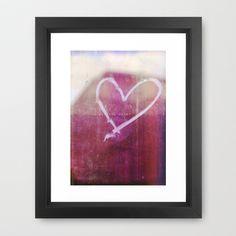 be still my beating heart Framed Art Print by Sybille Sterk - $35.00