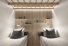Compatte nelle dimensioni, ma accoglienti le camere del Dream Hotel di Tampere, Finlandia, sono ideate nel segno del comfort con mobili e accessori su misura. Tutto di Studio Puisto Architects