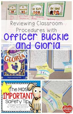 Using the well loved book Officer Buckle and Gloria for reviewing classroom procedures when you return in the new year! Love this idea!