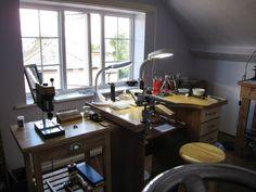 Studio - beautiful workroom of Alison Salzman