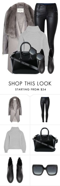 """""""Prague"""" by monmondefou ❤ liked on Polyvore featuring River Island, Iris & Ink, Givenchy, Gucci, black and gray"""