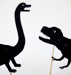 Make the dark fun with ferocious shadow puppets.