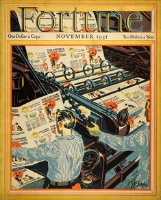 1931 November Fortune Cover Saturday Evening Post Buehr -