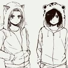 This is so adorable! Sting is dressed like Lector and Rouge is dressed like Frosch!