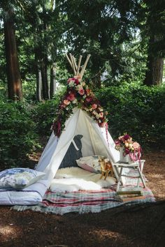 beautiful tent setup