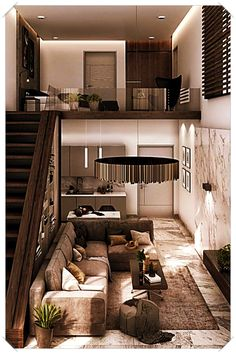 Small Homes That Use Lofts To Gain More Floor Space Living Room - Interior-designs-to-make-your-home-exclusive