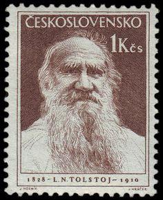 Literary Stamps: Tolstoy, Leo (1828-1910)