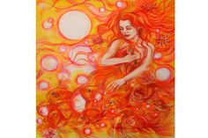 Gold Fashes/Dreaming. Colored pencils.Size   41\47 inch