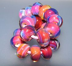 Southern Sunset Boro Beads from 3MusesGlass by 3MusesGlass on Etsy, $60.00