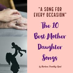 The Top 10 Best Mother Daughter Songs, Songs for Every Occasion. These 10 songs … There are some songs found in the world as given. We are proud to share these tracks known as the best songs. The best songs… Continue Reading → Mother Daughter Wedding Songs, Daughter Lyrics, Mother Song, My Daughter Birthday, Mother Birthday, Songs About Daughters, Slideshow Songs, Song Lyric Tattoos, Mom Song