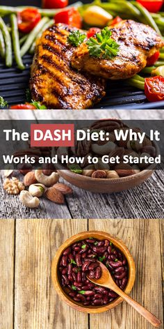 The Dietary Approaches to Stop Hypertension or DASH diet is a lifelong eating plan anyone can benefit from. Learn why it works and how you can hop on board. Dash Diet Plan, Mediterranean Diet, Eating Plans, Get Started, It Works, Healthy Eating, Weight Loss, Chicken, Benefit