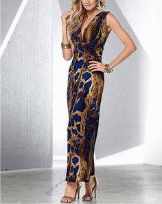 Dresses Length  Ankle-Length Sleeve Length  Sleeveless Material   Polyester 533e1347765c
