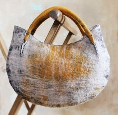 """Collection of handbags """"Nomad"""", wool."""
